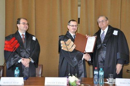 University of Bucharest in Romania bestows Honoris Causa Professor title to Oklahoma University Dean