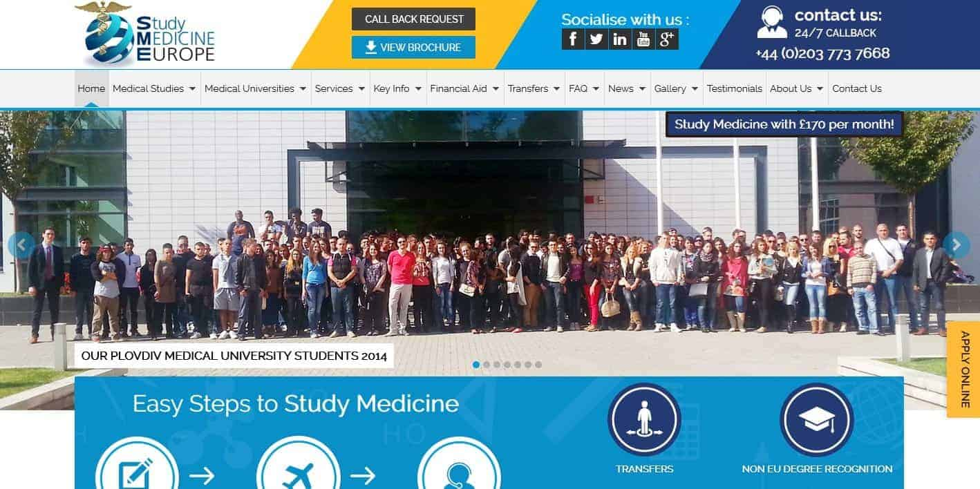 Study Medicine Europe Website Has A New Look!
