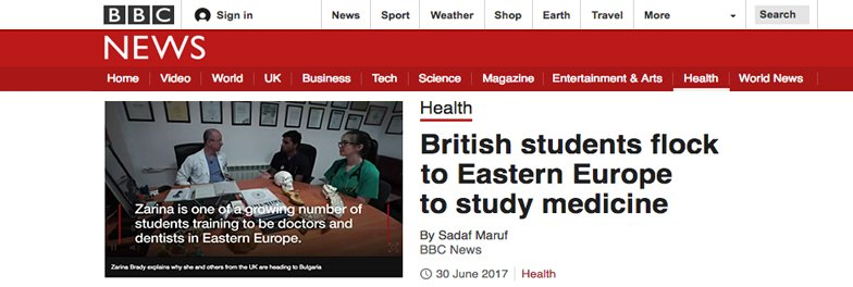 BBC Health Article features SME
