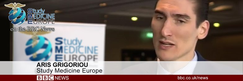 Study Medicine Europe on the BBC News