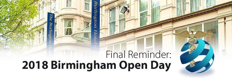 Birmingham Open day Event Reminder