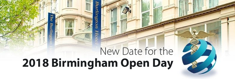 New Date for the 2018 Birmingham Open Day